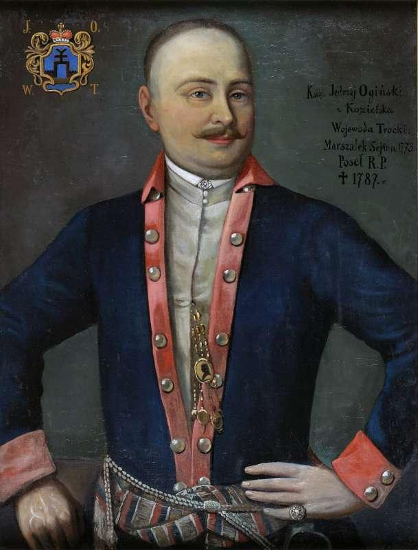 Andriaus Oginskio portretas. Dail. Nežinomas. XVIII a. Drobė, aliejus, 84x65 cm. Nacionalinis M.K. Čiurlionio dailės muziejus. Mt-1925. A. Kapčiaus nuotrauka.