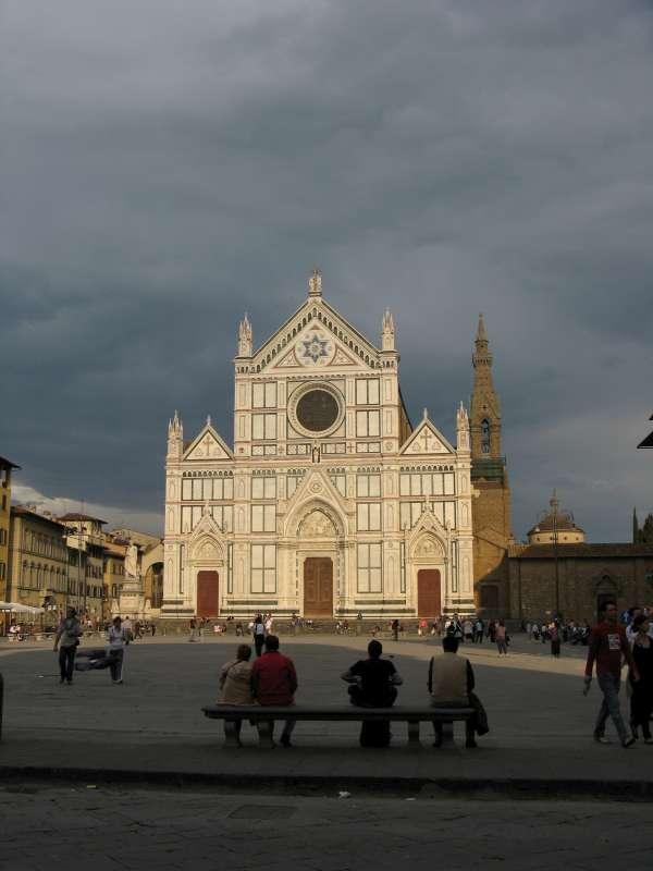 Santa Croce bazilika Florencijoje.   2008 m. Nuotrauka Vyto Rutkausko-800