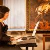 Pianistė Šviesė Čepliauskaitė. Labai dėkojame šiam renginiui instrumentą paskolinusiam Česlovui Kriščiūnui.